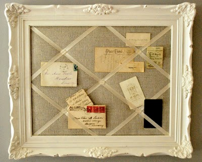 Tried and twisted diy antique framed memo board for Old picture frame projects