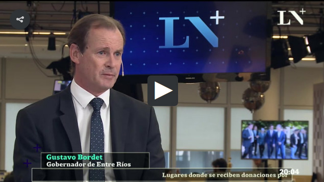 "Gustavo Bordet, gobernador de Entre Ríos: ""El kirchnerismo terminó el 10 de diciembre de 2015"""