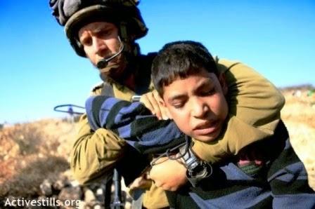 Israel prende crianças palestinas