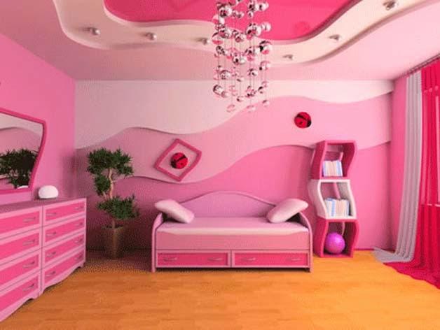Habitaciones para niñas en color rosa 11