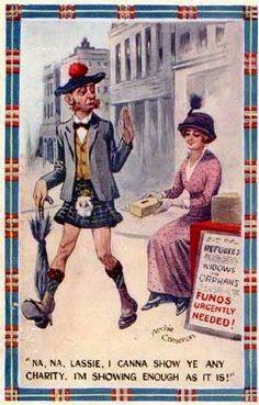 funny scottish postcard