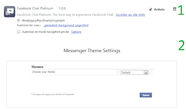 3 How To change Facebook theme Facebook Chat window theme Youtube theme using Facebook Chat Platinum !