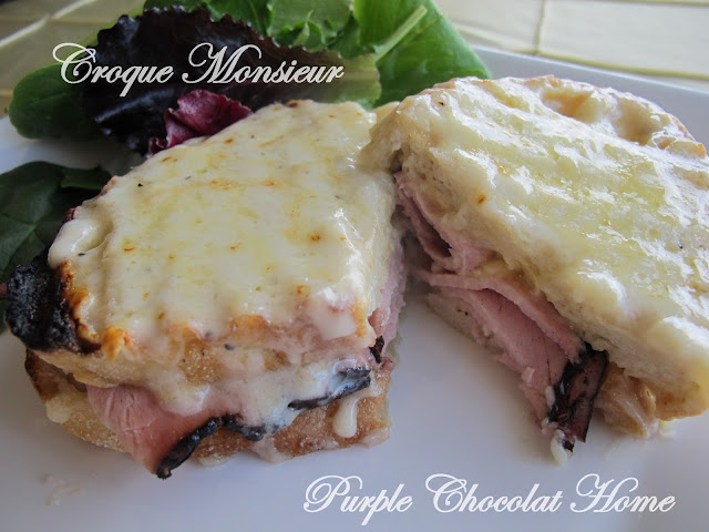 Croque Monsieur and Pommes Frites Seasoned with Rosemary