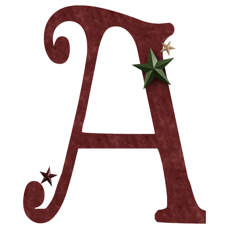 granny enchanted39s blog free christmas red suede digi With single alphabet letters images