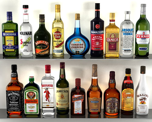 3D Alcohol Bottles Collection | Heroturke
