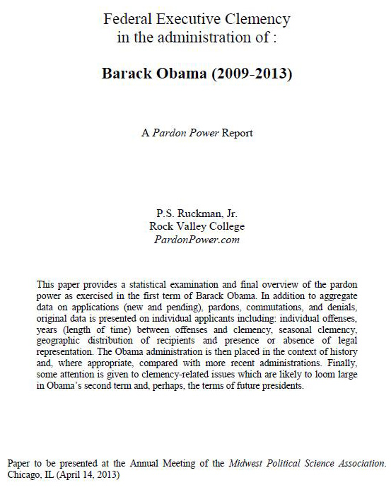 interested readers can now see a draft of pardonpower s report on the ...