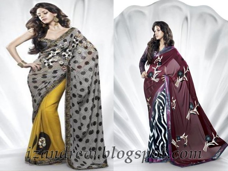 Saree Collection 2012-2013 | Shell Printed Saree for Summer/Spring