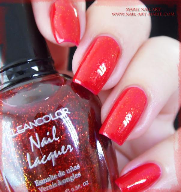 kleancolor chunky holo scarlet1