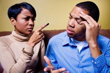 Do You Make Excuses for the Person You're Dating - black couple man woman fighting marriage sad