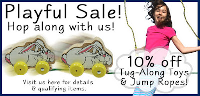 10% off Tug-Along Toys and Jump Ropes