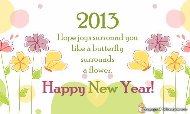 Happy New Year Flower Greeting Cards | Happy New Year 2015