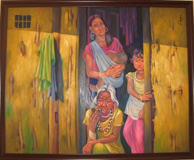 Tác phẩm hội họa về đề tài Tây nguyên 4