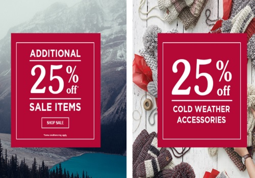 Roots Boxing Day Starts Early Extra 25% off Sale Items + 25% Off Cold Weather Accessories