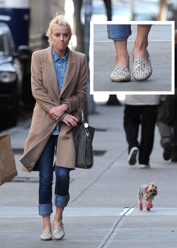 Amber Heard Jeffrey Campbell loafers