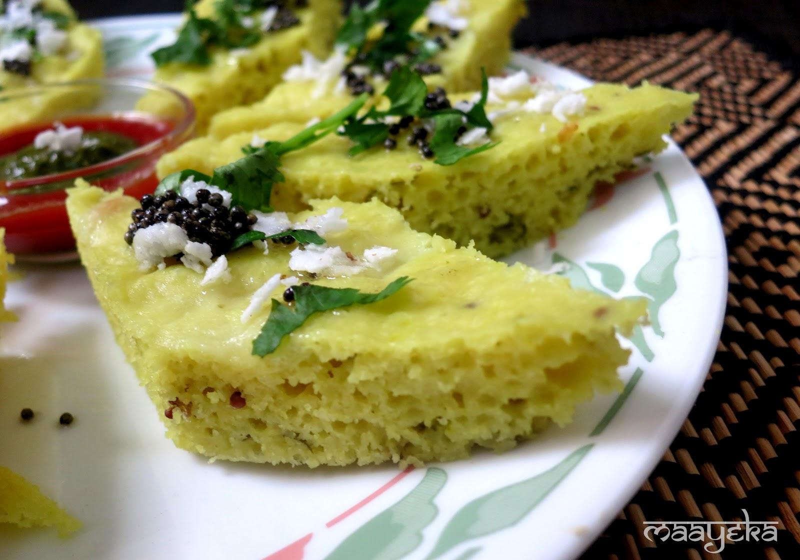 Khatta dhokla recipe maayeka rice 12 cup forumfinder Images