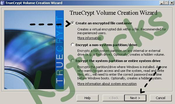 Create an Encrypted File Container with True Crypt