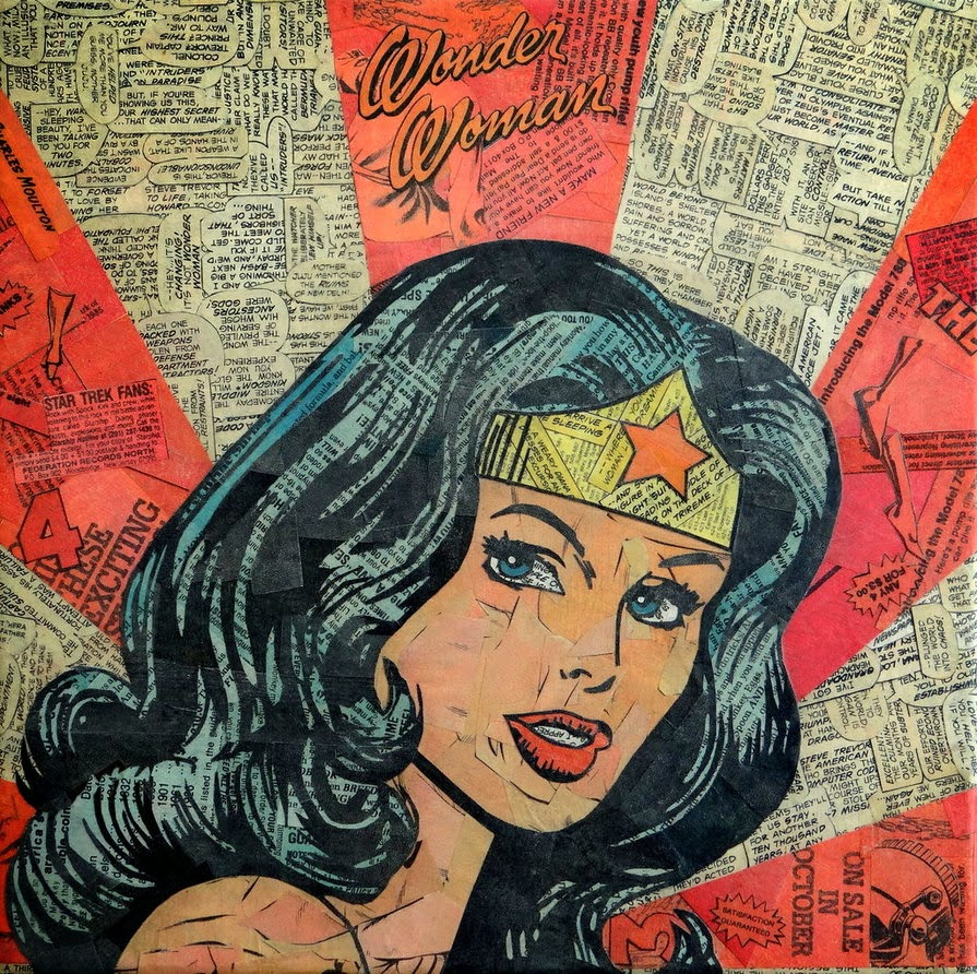 collage wonderwoman