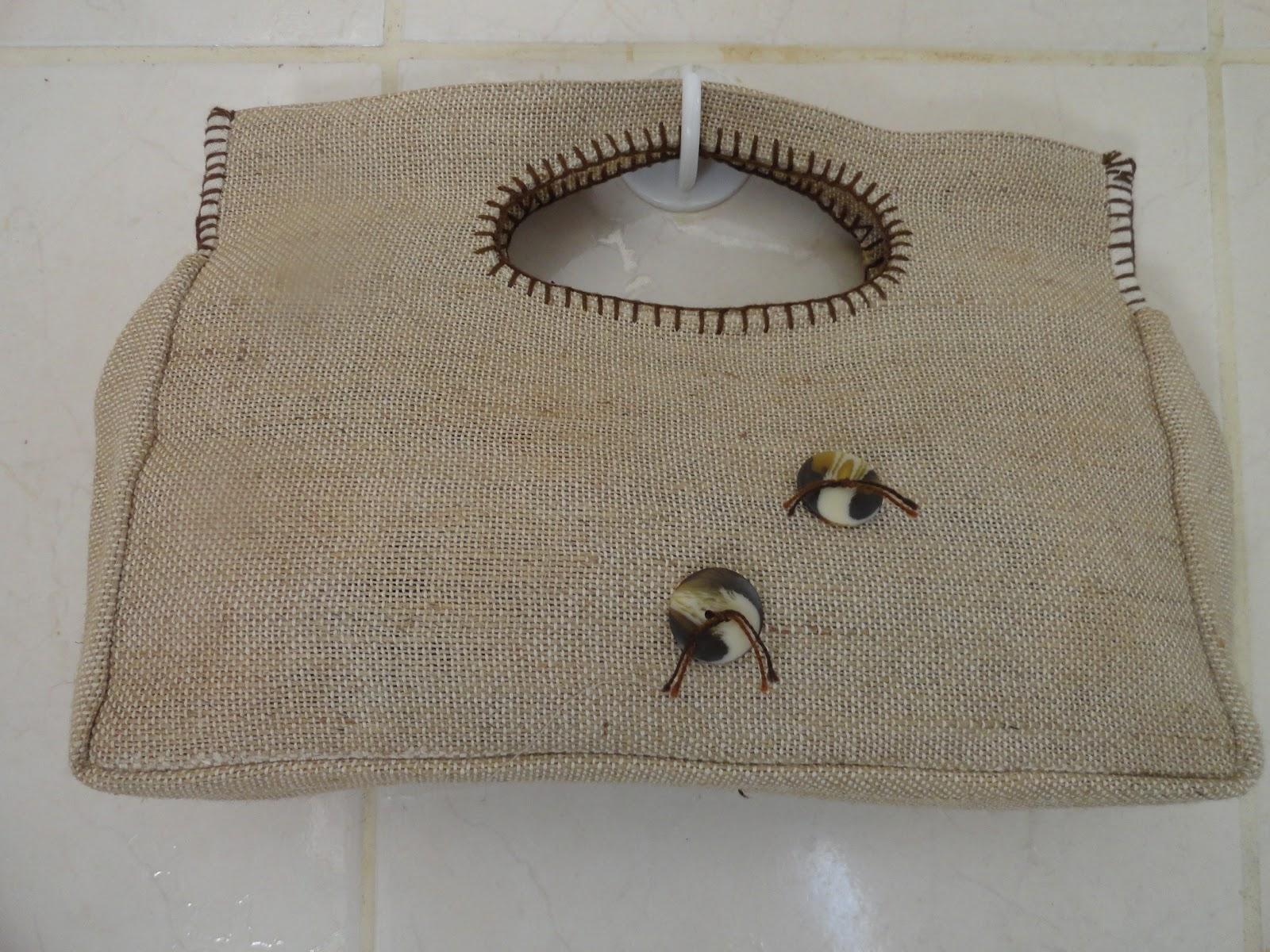 Bolsa De Mão De Juta : Helena nascimento arte de reciclar bolsa juta