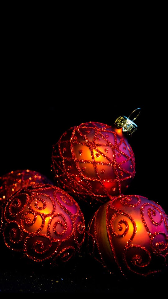 Christmas Balls Red Glitter  Galaxy Note HD Wallpaper