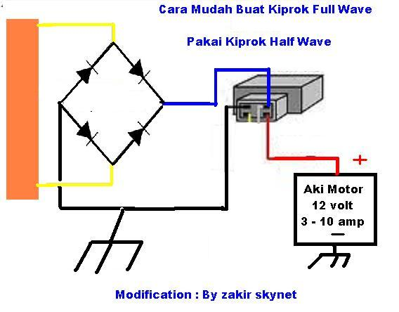 Solusi Battery  Cara Buat Kiprok Fullwave Pakai Kiprok