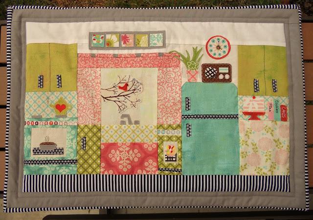 Retro Kitchen Mini Quilt by Heidi Staples of Fabric Mutt