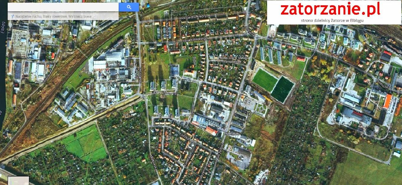 Satelitarna mapa Zatorza