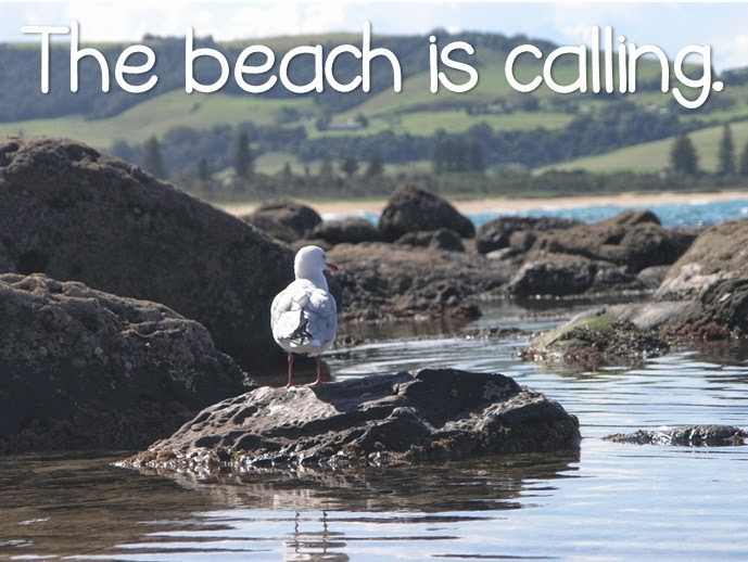The beach is calling Summer quote from Clever Classroom's blog