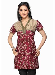 baju batik modern terbaru gaul