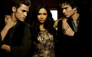 Vampire Diaries Stefan Damon and Elena Wallpaper in HD