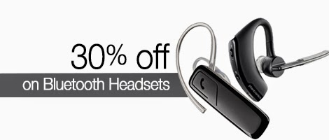 30% off on Bluetooth Headsets