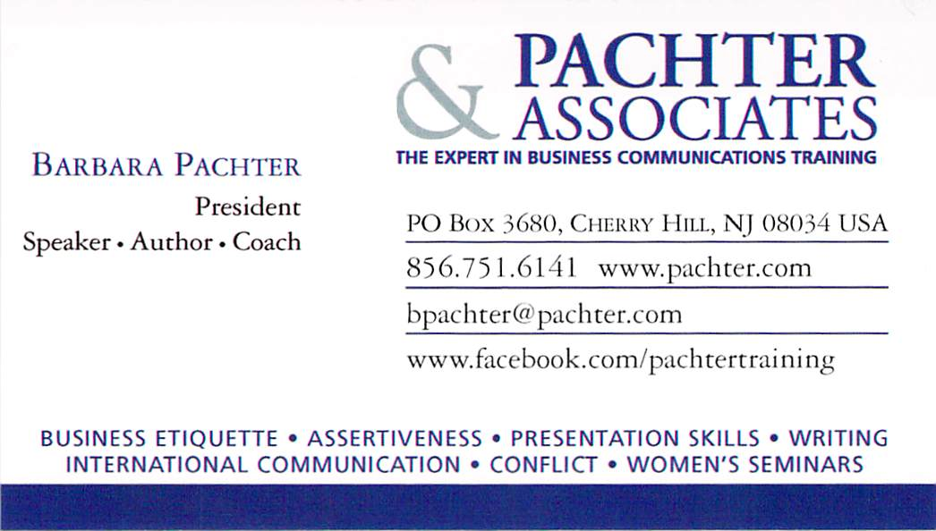 Barbara pachters blog pachters pointers business cards in a barbara pachters blog pachters pointers business cards in a social media world colourmoves