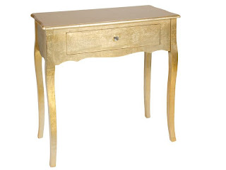 mueble pan de oro, recibidor acabado oro, mueble entrada, consola recibidor
