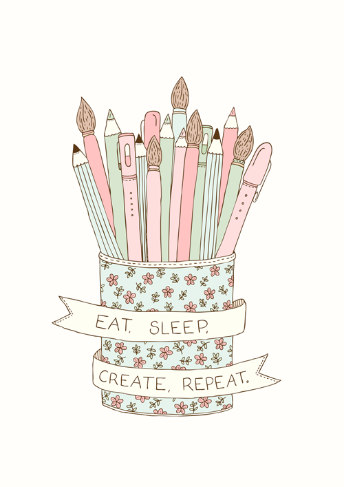 Emma Margaret Illustration Eat Sleep Create Repeat 2015