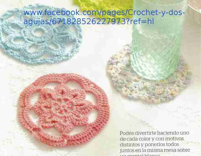 Portavasos diferentes a Crochet