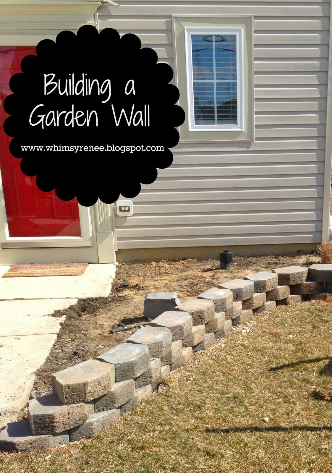 whimsy renee building a garden wall the beginning