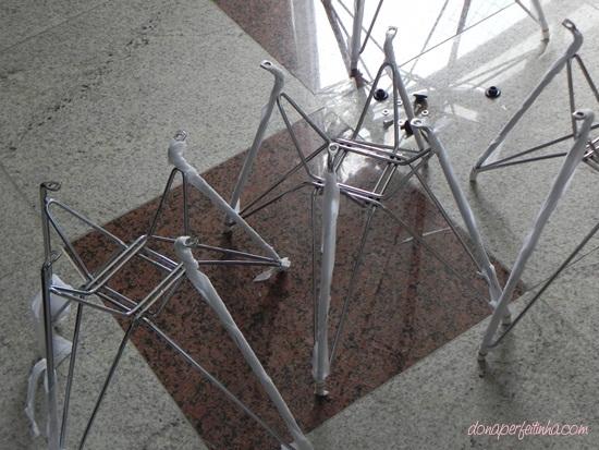 Cadeiras de acrílico ou transparentes - recomendo a compra pela internet