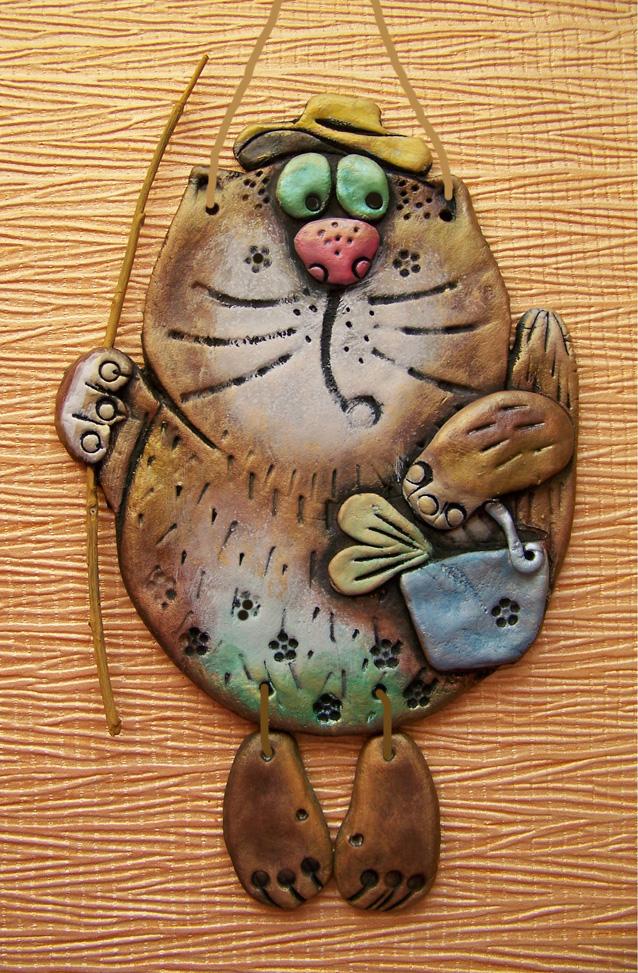 Коты из соленого теста своими руками фото