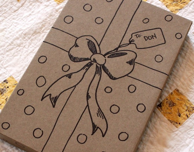 Gift wrapping inspiration: Sharpie wrapping design