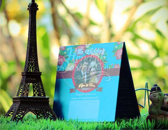 Contoh Undangan Pernikahan Hardcover Fajar & Tiwie Klaten (HCGD-34)