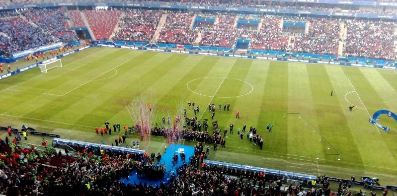 Piłkarze Legii Warszawa odbierają Puchar Polski - fot. Tomasz Janus / sportnaukowo.pl