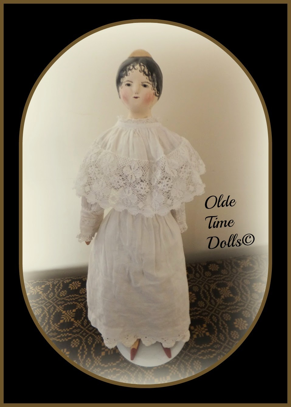 Wood & Cloth Tuck Comb Doll