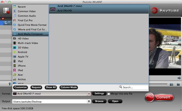 convert mxf to avid mc