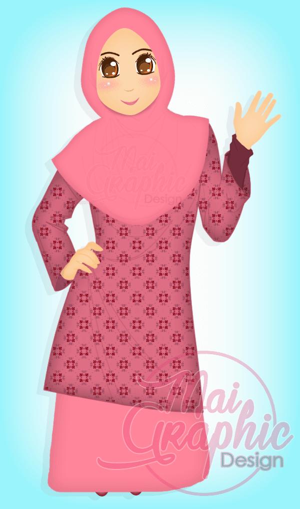 Design doodle murah, cantik, comel