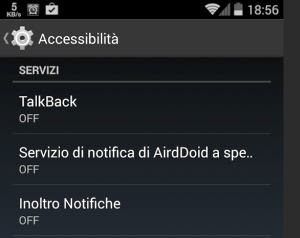 accessibilità android