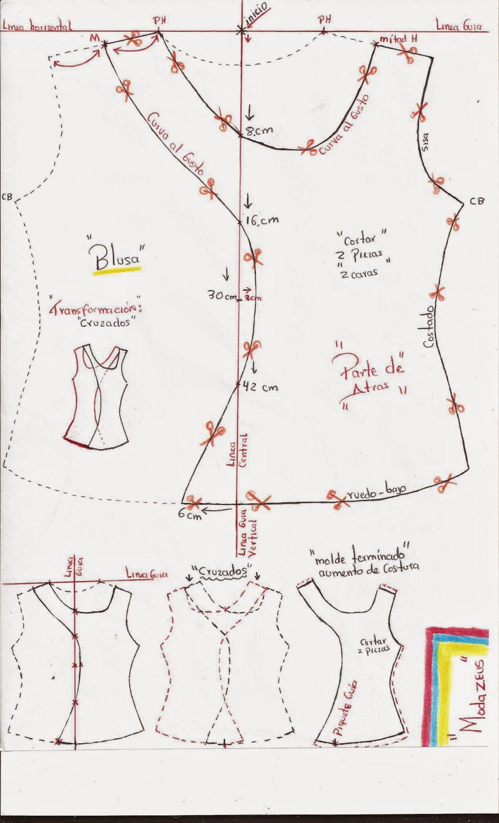 patrones de blusas para niñas cruzadas telas licra viscosa
