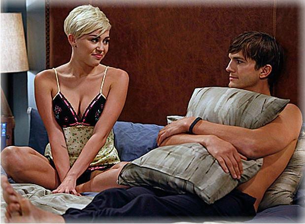 FARANDULA Miley Cyrus y Ashton Kutcher