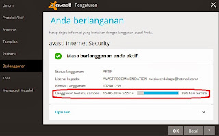 Avast Internet Security 2014 Aktif Sampai 2016