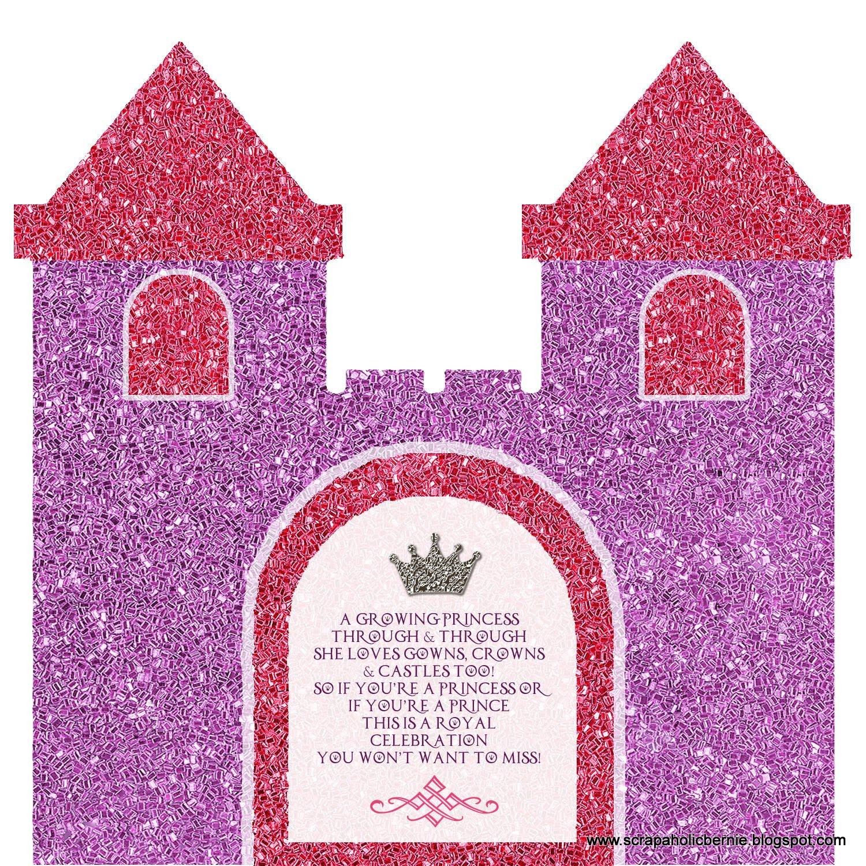 Princess Castle Flip Invites Front With Door