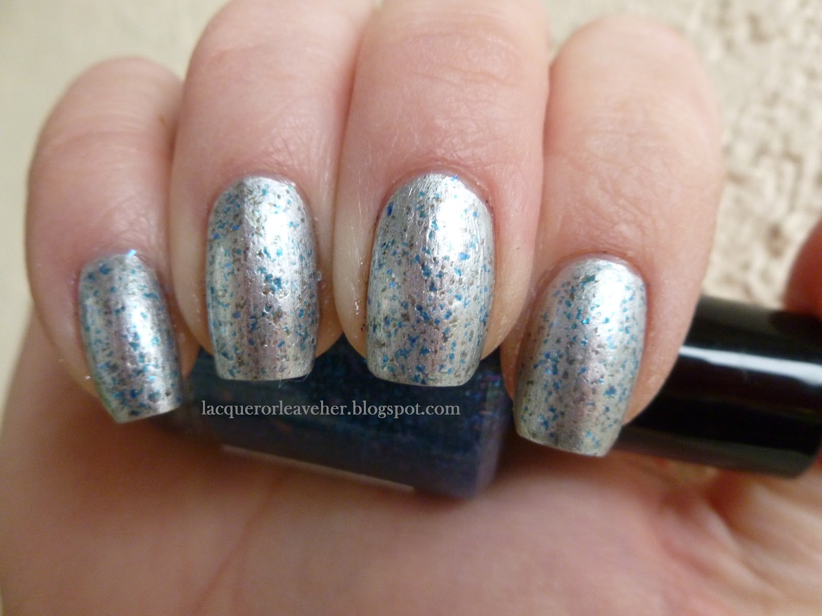 Polished Components Future Over Barry M Silver Foil