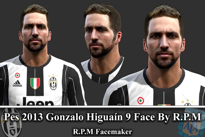 Pes 2013 Gonzalo Higuain 9 Face By R.P.M